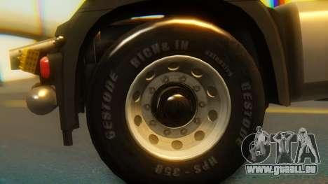 Mercedes-Benz Actros MP4 Stream Space Black pour GTA San Andreas vue de droite