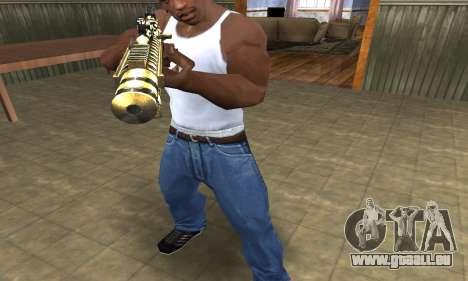 Gold Lines AK-47 pour GTA San Andreas deuxième écran