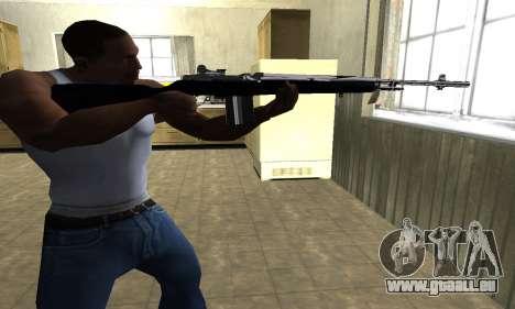 Full Black Rifle pour GTA San Andreas deuxième écran