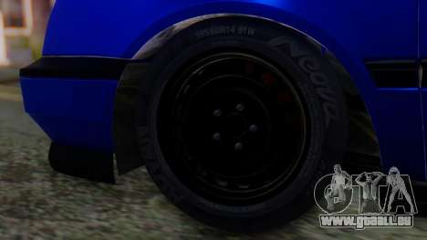 Volkswagen Golf 3 Pink Floyd für GTA San Andreas zurück linke Ansicht