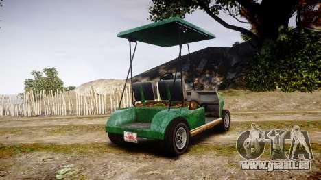 GTA V Nagasaki Caddy pour GTA 4 Vue arrière de la gauche