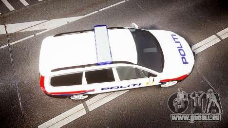 Volvo V70 2014 Norwegian Police [ELS] für GTA 4 rechte Ansicht
