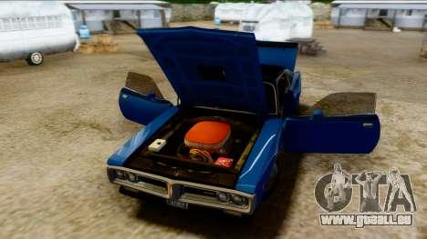 Dodge Charger Super Bee 426 Hemi (WS23) 1971 PJ pour GTA San Andreas vue arrière