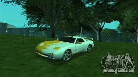 ZR-350 Double Lightning für GTA San Andreas Unteransicht