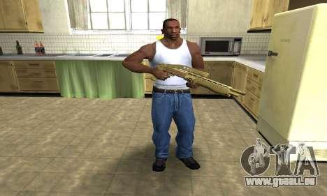 Zloty Tajfun Combat Shotgun pour GTA San Andreas troisième écran