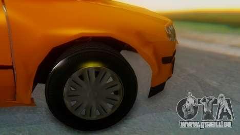 Samand Taxi pour GTA San Andreas sur la vue arrière gauche
