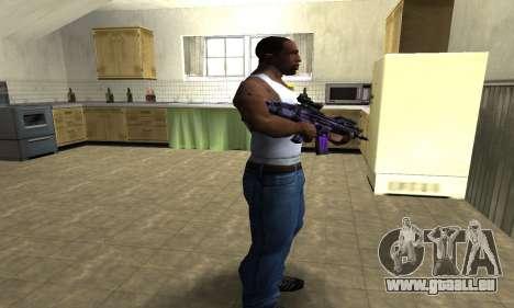 Blue Scan M4 für GTA San Andreas dritten Screenshot