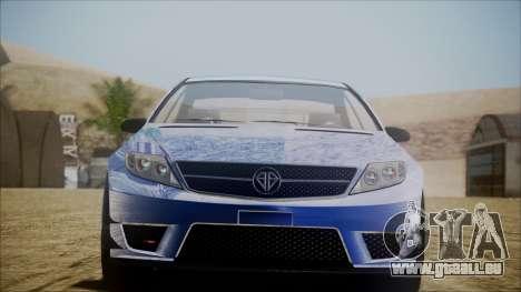 Benefactor Schwartzer Gray Series pour GTA San Andreas laissé vue