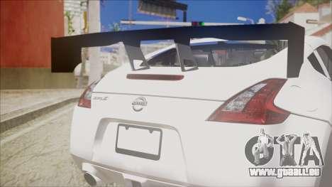 Nissan 370Z SPPC pour GTA San Andreas vue arrière