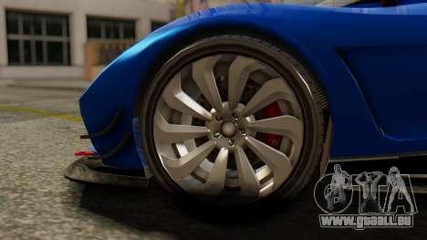 Pegassi Osyra Extra 1 pour GTA San Andreas sur la vue arrière gauche