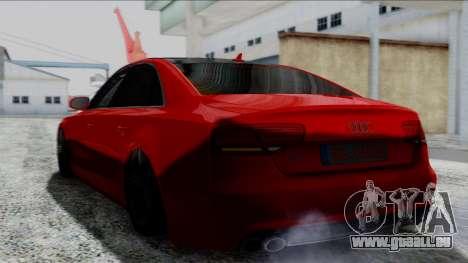 Audi A8 Turkish Edition pour GTA San Andreas sur la vue arrière gauche