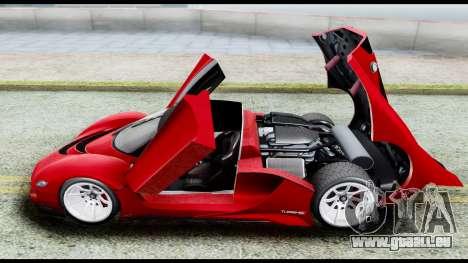 Grotti Turismo RXX-K v2.0 für GTA San Andreas Rückansicht