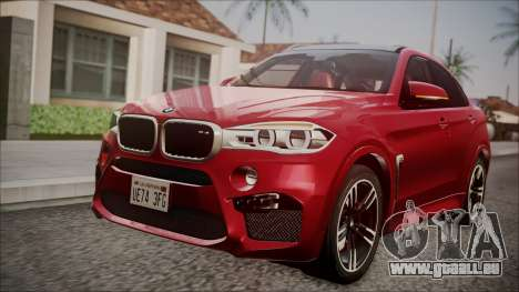 BMW X6M 2015 für GTA San Andreas Rückansicht