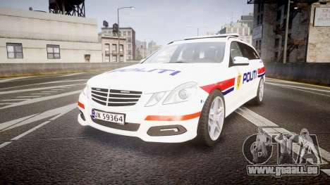 Mercedes-Benz E63 AMG Estate 2012 Police [ELS] pour GTA 4