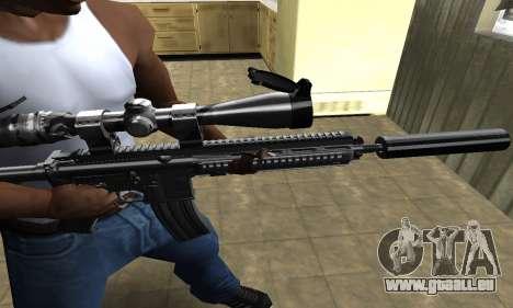 M4 with Optical Scope pour GTA San Andreas deuxième écran