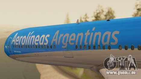 Boening 737 Argentina Airlines pour GTA San Andreas vue arrière