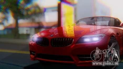 BMW Z4 sDrive35is 2011 2 Extras für GTA San Andreas rechten Ansicht