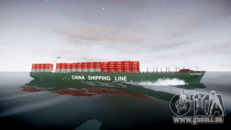 Ein container-Schiff für GTA 4 linke Ansicht