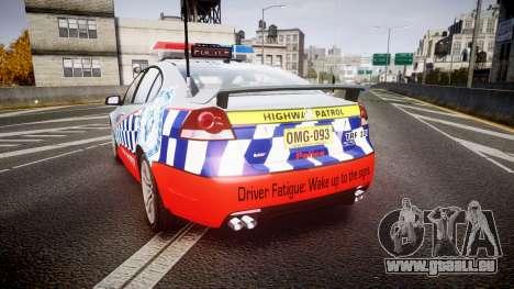 Holden Commodore SS Highway Patrol [ELS] für GTA 4 hinten links Ansicht