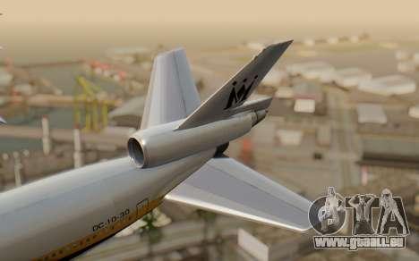 DC-10-30 Monarch Airlines pour GTA San Andreas sur la vue arrière gauche