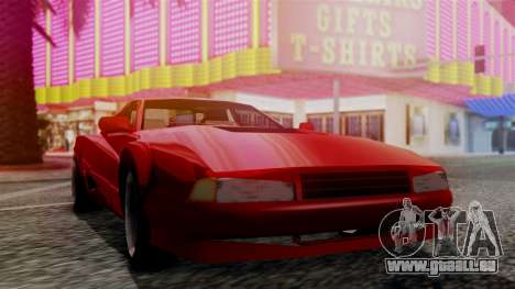 Cheetah New Edition für GTA San Andreas zurück linke Ansicht