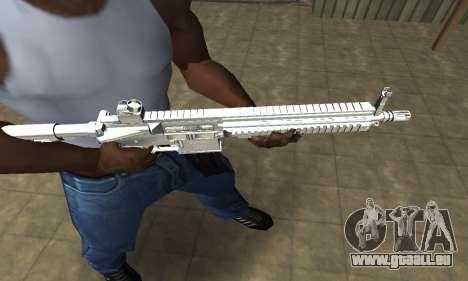 White Cool M4 pour GTA San Andreas deuxième écran
