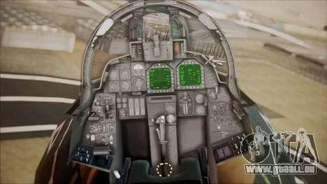 F-14D AC6 Halloween für GTA San Andreas Rückansicht
