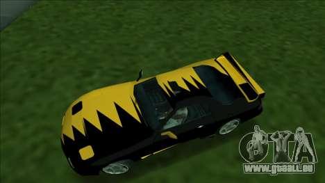 ZR-350 Double Lightning pour GTA San Andreas vue de droite