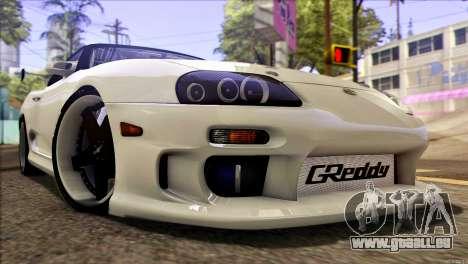 Toyota Supra 1998 E-Design für GTA San Andreas zurück linke Ansicht