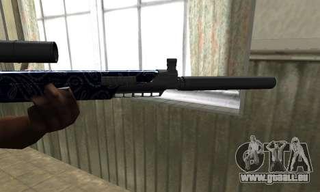 Blue Oval Sniper Rifle pour GTA San Andreas deuxième écran