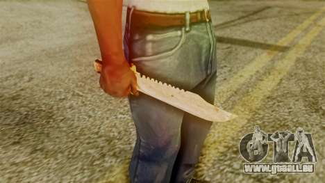 Red Dead Redemption Knife Legendary Assasin für GTA San Andreas dritten Screenshot