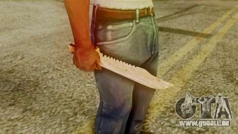 Red Dead Redemption Knife Legendary Assasin für GTA San Andreas dritten Screenshot