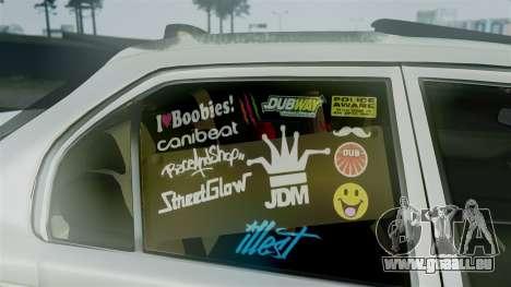 Toyota Corolla für GTA San Andreas rechten Ansicht