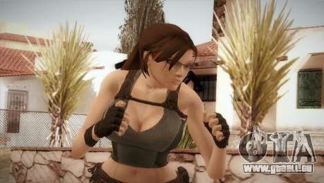 Well Armed Lara Croft für GTA San Andreas dritten Screenshot