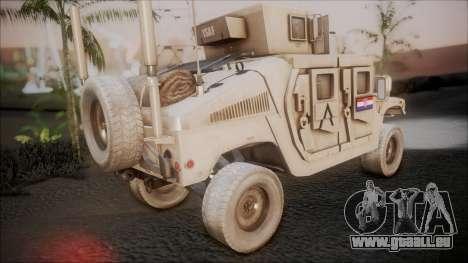 HMMWV Croatian Army ISAF Contigent pour GTA San Andreas laissé vue