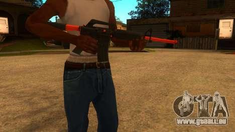 M4A1 Nitro pour GTA San Andreas deuxième écran