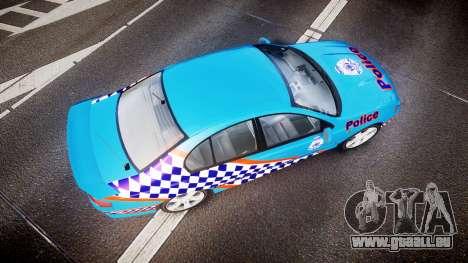 Ford Falcon BA XR8 Police [ELS] pour GTA 4 est un droit