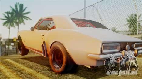 Chevrolet Camaro SS 1969 Drag Version pour GTA San Andreas sur la vue arrière gauche
