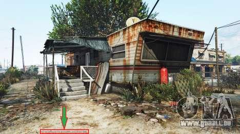 GTA 5 Affichage de l'emplacement du lecteur v1.06 deuxième capture d'écran