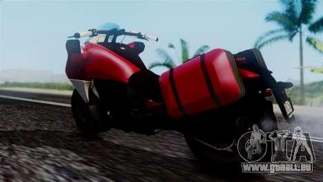 Dinka Vindicator SA Plate pour GTA San Andreas sur la vue arrière gauche