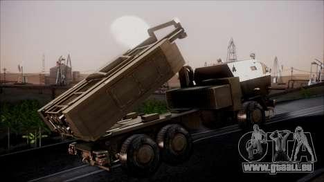 M142 HIMARS Desert Camo für GTA San Andreas zurück linke Ansicht