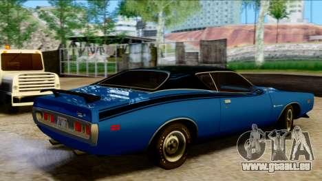 Dodge Charger Super Bee 426 Hemi (WS23) 1971 PJ pour GTA San Andreas sur la vue arrière gauche