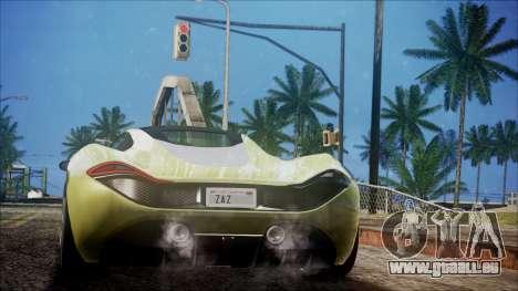 GTA 5 Progen T20 pour GTA San Andreas laissé vue