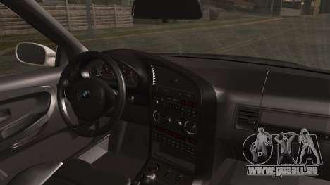 BMW M3 E36 Police pour GTA San Andreas sur la vue arrière gauche