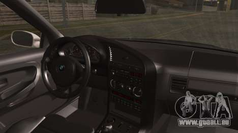 BMW M3 E36 Police für GTA San Andreas zurück linke Ansicht