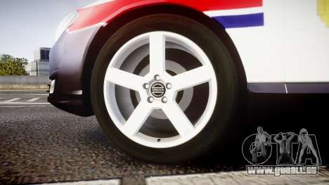 Volvo V70 2014 Norwegian Police [ELS] für GTA 4 Rückansicht