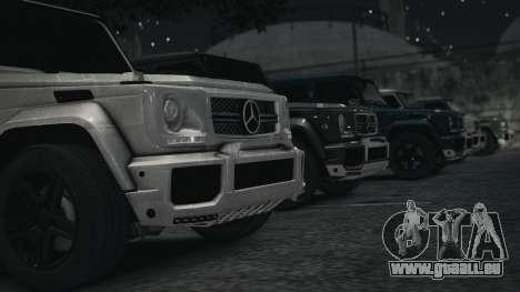 Mercedes-Benz G65 W463 pour GTA 4 Vue arrière de la gauche
