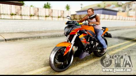 Kawasaki Z250SL Orange pour GTA San Andreas