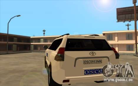 Toyota Land Cruiser OSZE (ОБСЕ) für GTA San Andreas zurück linke Ansicht
