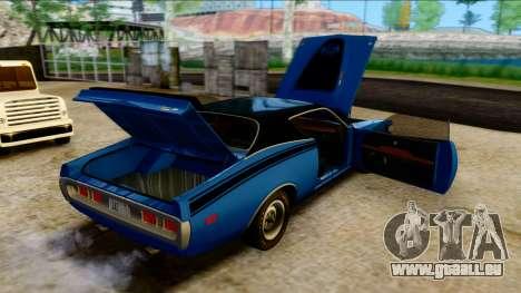 Dodge Charger Super Bee 426 Hemi (WS23) 1971 PJ pour GTA San Andreas vue intérieure